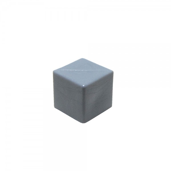 CUBO LISO PLÁSTICO FECHADO CINZA - 10x10x10 mm
