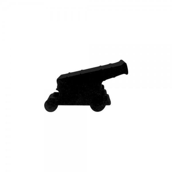 CANHÃO (mod.1) P PRETO - 21x11x9 mm