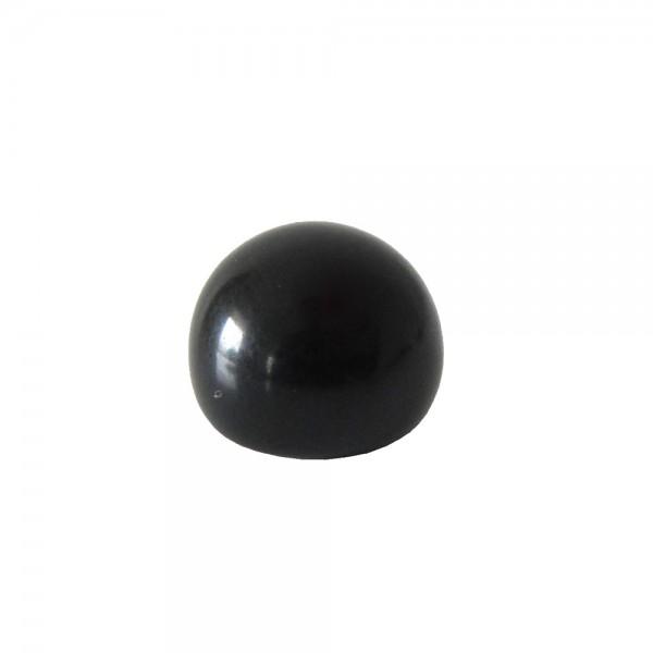 MEIA BOLA - PRETO OPACO - 12x8 mm